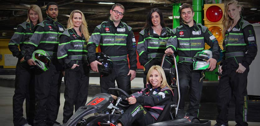 Team building activities like go-karting at Lehigh Valley Grand Prix can help improve workplace effort and teamwork!