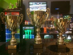 Laps for Leukemia trophies