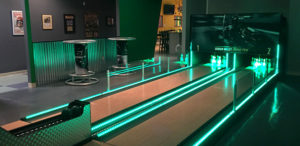 graduation party blacklight mini bowling lanes