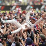 Formula 1 racer Lewis Hamilton wins the British grand prix at Silverstone circuit for fifth time