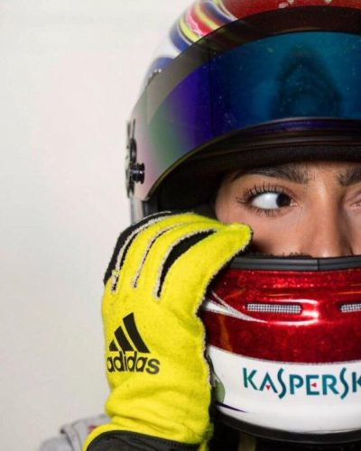 Amna Al Qubaisi Female Motorsports Karting Racer at Seventeen Years of Age