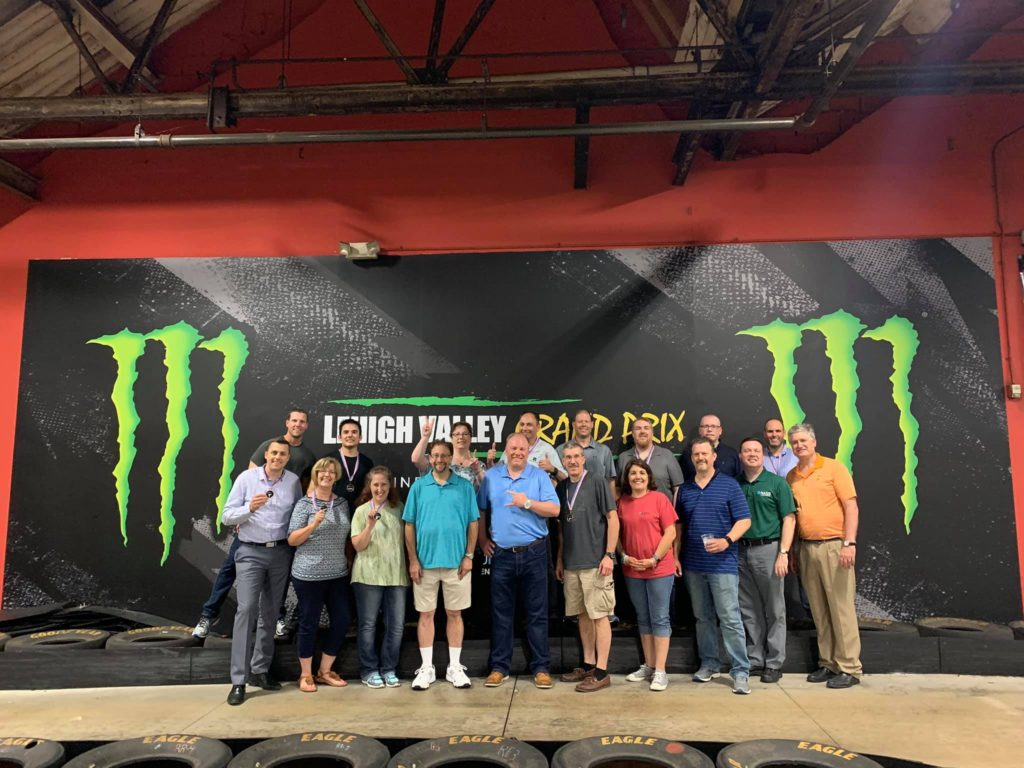 Venue for Fun Work Parties in Allentown Pennsylvania at Lehigh Valley Grand Prix